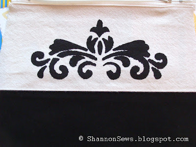 Add personal details to fabric with freezer paper stencil designs