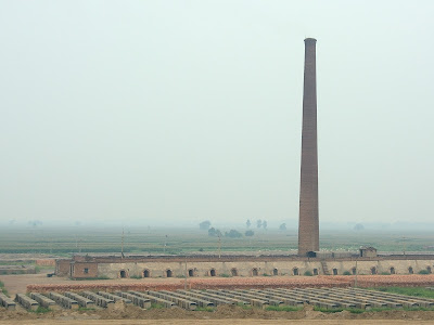Brick factory in rural China