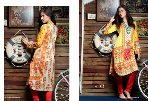 Firdous Fashion Kurti Lawn 2015 Vol-2
