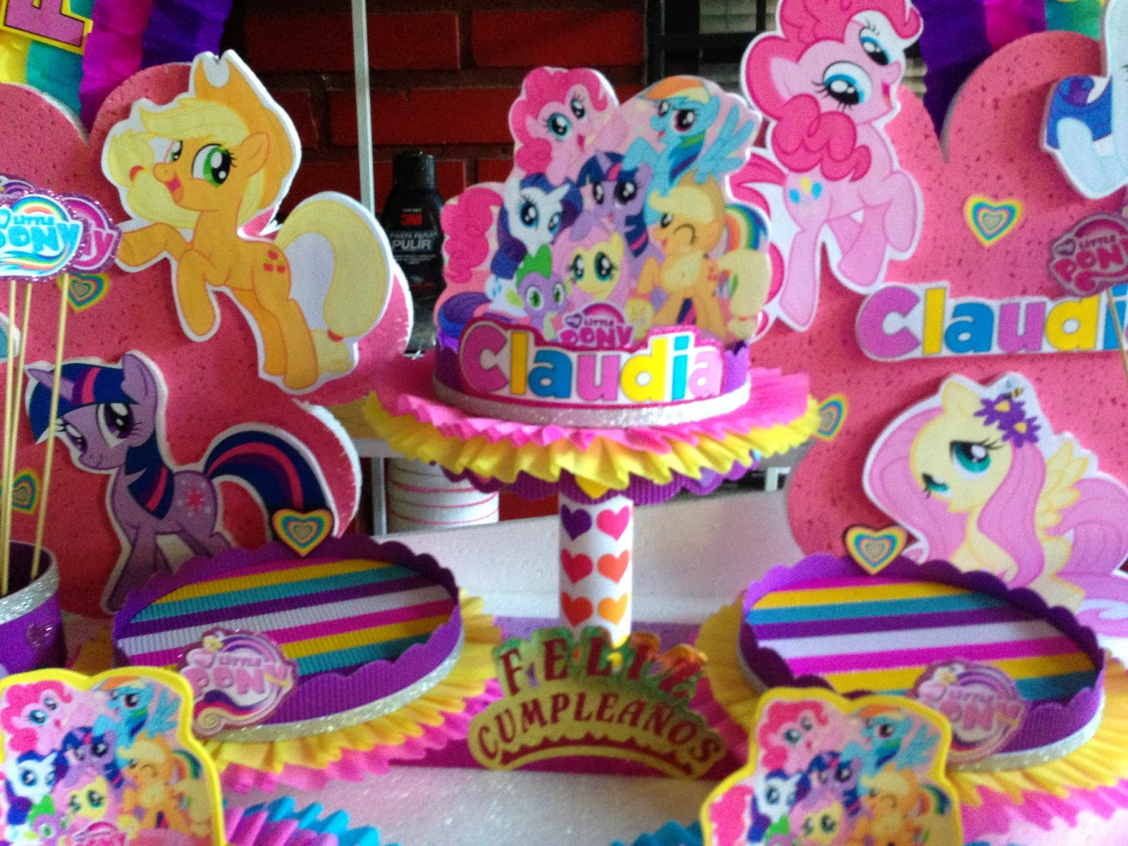 Decoraciones para fiestas infantiles my little pony - Imagui