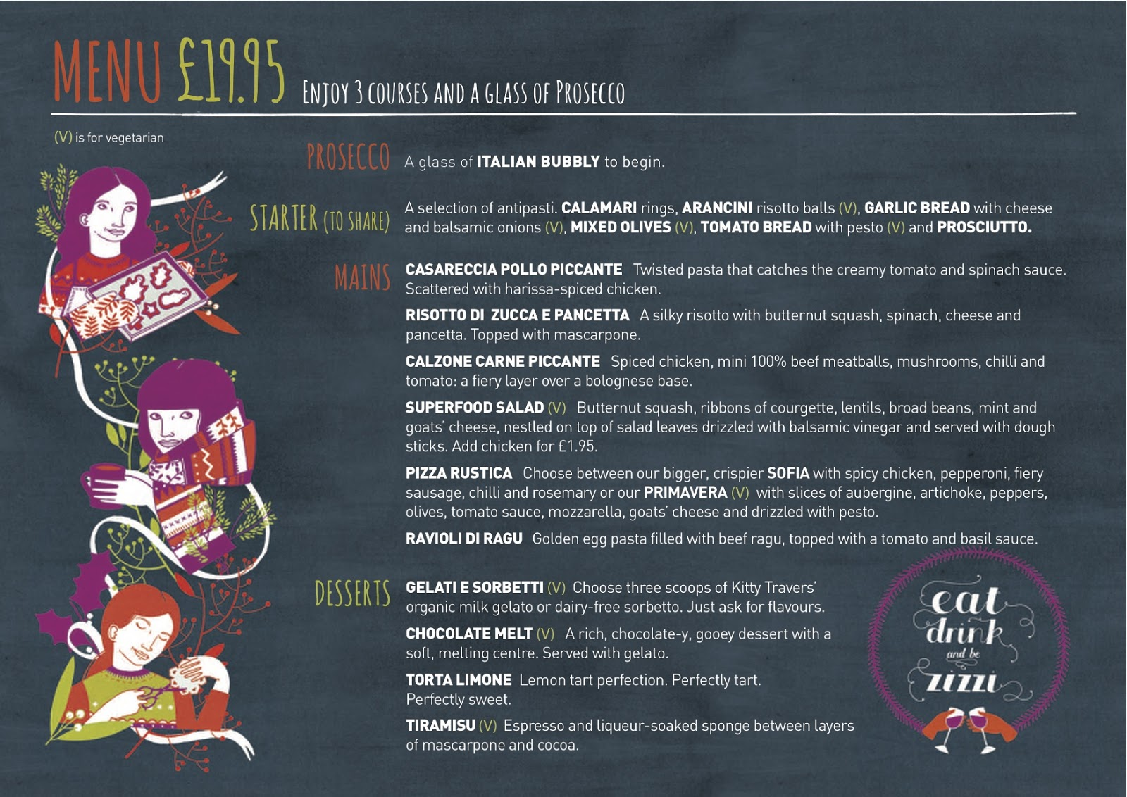 The Set menu features Winter foliage and some characters doing ...
