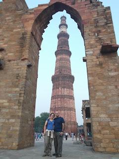 Fijaos en el tamaño de las hormiguitas al pie del minarete