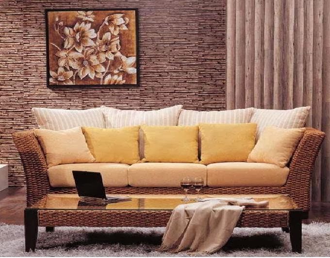 canap en rotin. Black Bedroom Furniture Sets. Home Design Ideas