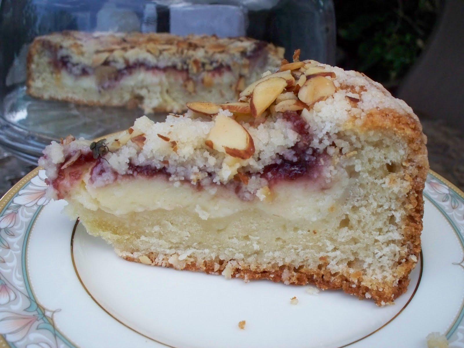 Raspberry Almond Coffeecake Recipe — Dishmaps