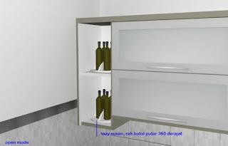 furniture semarang - desain kitchen set minimalis pintu kaca engsel hidrolis 03
