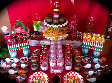 PIZZA PARTY DESSERT TABLE