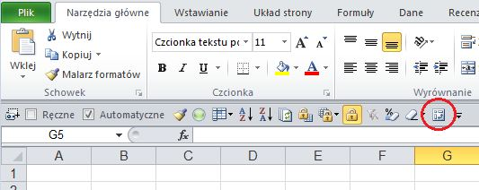 Kreator tabel przestawnych z Excela 2003 - wynik