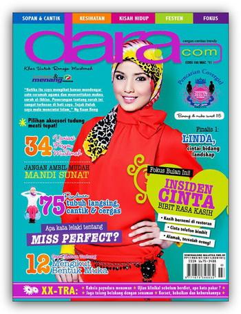 Gadis manis ini bernama Linda Roslan . Tampil dalam cover majalah Dara