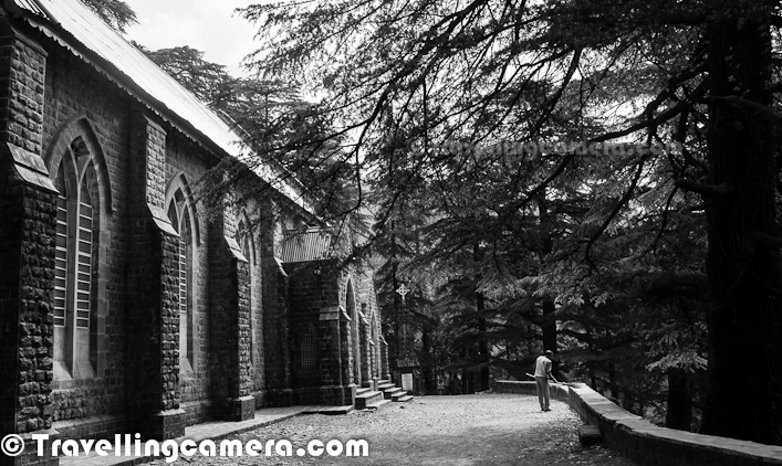 Old Photo Journey of St. John's Church is one of the most popular ones so far and if you have missed old one, we strongly recommend to see old photographs and those were clicked in appropriate season of the year with wonderful Himalayan Hues... HERE... This Photo Journey shared some of the recent photographs from our last visit to Mcledoganj and next will be planned with Mountain-Cleaners to make surroundings of this place cleanerThis time, we had enough time to spend around St. John Church in Mcledoganj. We were staying in Dharmshala, took a local bus from Dharmshala Bus-Station and reached this church which comes on the way from Dharmshala to Mcledoganj. It was a great welcome at church with wonderful music all around. I have been to this place many times and this was first time, when we listened prayers at St. John Church. It was Sunday Morning..This road you see on left is the one which connects Mcledoganj with Dharmshala. Mcledoganj is hardly 1.5 kilometers from here and after spending some time around the church we walked till Mcledoganj Market. In above photograph you can see that church is just on right side of this road and connected through a well maintained concrete path till main gateThis Photograph shows back side of St. John Church. Entry is on other side which is facing main road. This Photograph is clicked from the forest which is in back side of this church, although this whole hill is covered with high Cedar Trees. It was clear day, which is extremely unpredictable in Dharmshala/Mcledoganj. In India after Chirapoongi, Dharmshala gets maximum rains. In fact on same day it rained and we had to spend 2 hrs inside a cafe at Mcledoganj.During this visit, we met a gentleman who was cleaning the space around St. John Church. He comes to this place from Dharmshala every Sunday and do this work as a volunteer. Unfortunately he can't clean all hills around this place and tourists have made this place full of plastic bottles and wrappers. Mountain Cleaners is an organization which is based in Mcledoganj put their best efforts in ensuring cleanness around this part of State. Photo Journey team will try to clean the space around St John Church with Mountain-Cleaners next timeOverall this is a peaceful place to spend some time, although I know many people don't like such places. In past, I recommended this place to friends who visited Mcledoganj and they didn't like this place. Anyways, it's personal choice and it's worth to at least visit it onceIts churchyard is the final resting place of Lord Elgin, who served as Governor General of the Province of Canada, who oversaw the Creation of Responsible Government in Canada, and later while in China, ordered the complete destruction of the Old Summer Palace. He became Governor-General & Viceroy of India in 1861 during the British Raj, though he soon died at Dharamshala on November 20, 1863 and was buried there. (Courtesy - http://en.wikipedia.org/wiki/St._John_in_the_Wilderness)The most notable memorial and one which adjoins the church (the one you see on left side of first photograph in Photo Journey), is the elaborate stone memorial that was erected over the body of the British Viceroy, Lord Elgin who died at Dharamsala in 1863.The inscription reads - In memory of JAMES BRUCE, Earl of Elign and Kincardine K.T. G.C.B. G.M. S. I. Viceroy, and Governor-General of India, who having previously served his country as Governor of Jamaica, Governor General of Canada, High commissioner and Ambassador to China, and in other High offices, died at Dhurmsala in the discharge of his duties, on the 20th November 1863, aged 52 years and 4 months.There are many graves outside the St. John's church where many Britishers of that period have been buried. Still their names are engraved there. People visiting Mcleodganj often visit this fantastic church and get to know a lot about British history in India. This Photograph is clicked in front part of main church. There is a huge area where lot of graves are facing main Mcleodganj town.Apart from the one in front, there are some graves in backyard of St. John's Church in Mcledoganj. On both sides, this church is flanked by a well tended cemetery over the grassy slopes. Some of the graves are of those who were killed in the great earthquake of 1905. The inscriptions on others have a heartrending poignancy... (Courtsey - http://www.yatra.com/holiday-packages/destinations/in/mcleodganj/attractions/church+of+st+john+in+the+wilderness)St John Church structure survived 1905 Kangra earthquake, which killed close to 19800 people, injured thousands in the Kangra area and destroyed most buildings in Kangra, Mcleodganj and Dharamshala... its spire, Bell tower, was however destroyed. Later, a new bell, built in 1915 by Mears and Stainbank, which was brought from England and installed outside in the compound of the church. It's just in front of main gate of Church, enclosed with concrete on three side and iron bars on front sideSt. John in the Wilderness is an Anglican church dedicated to Saint John which was built in 1852 and located near Mcledoganj suurb of Dharamshala, India... Set amidst deodar forest and built in neo-Gothic architecture, this church is known for its Belgian stained-glass windows donated by Lady Elgin, wife of Lord ElginWeather around this place very pleasant. It remains cool even when Mcledoganj is hot due to direct sunlight. This part is mainly surrounded by dense and high cedar trees.If you keep your eyes open, this place is surrounded by beautiful flora as well. Lot of tiny flower in different colors can be seen in these hills.