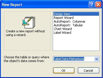 Membuat Report Berupa Label di Microsoft Access 2003
