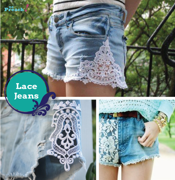 renda lace - shorts jeans diy - do it yourself - faça você mesmo