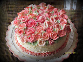 Buttercream Roses Wedding Cake