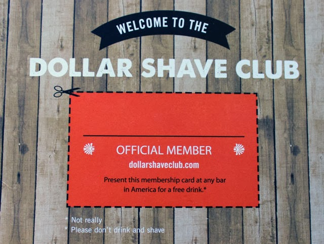 Dollar Shave Club membership card