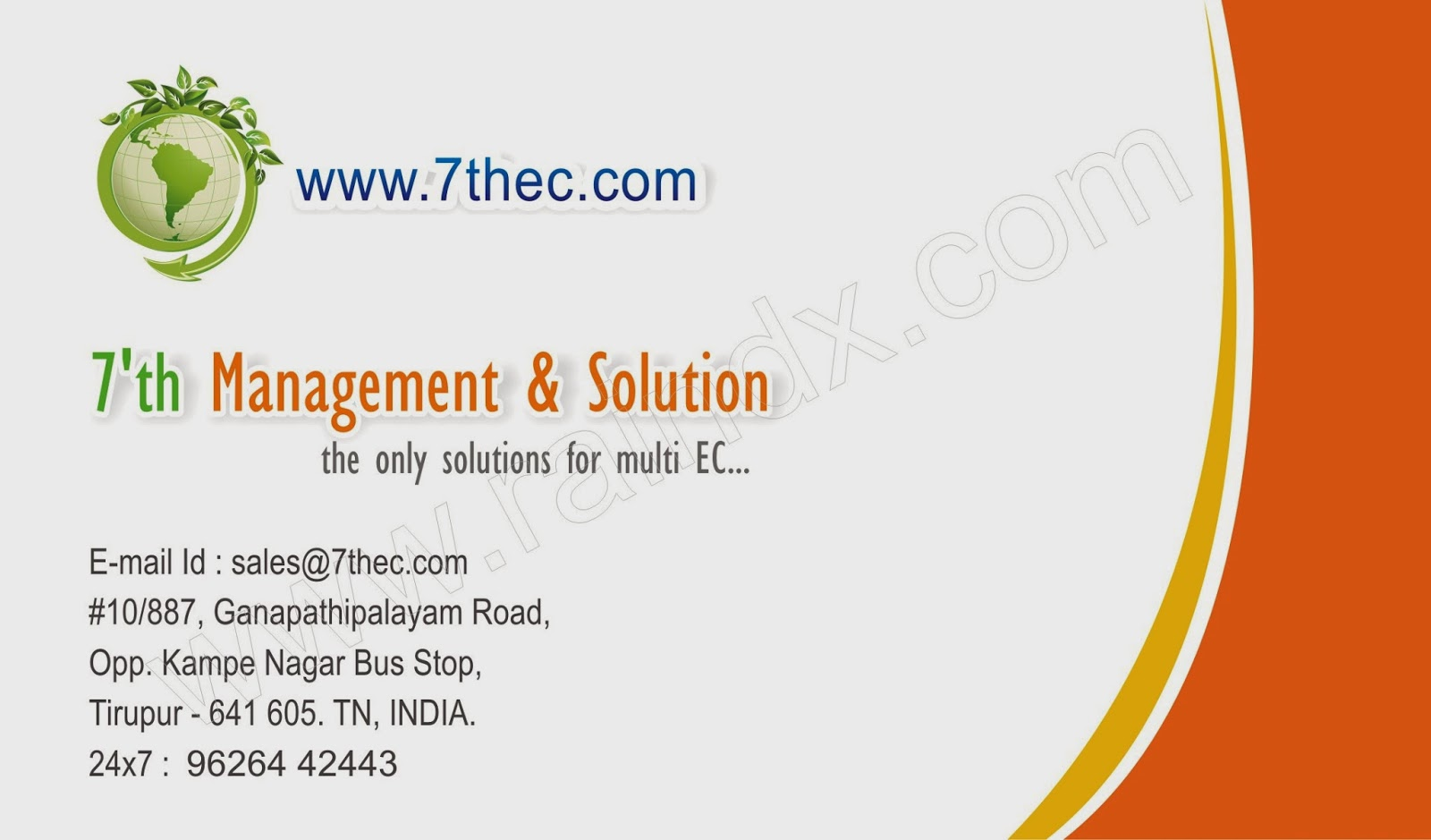 Simply Modern Corporate Business Card Template :::7th Management ...