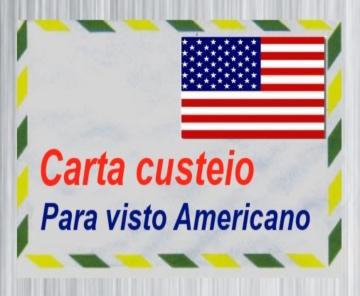 carta custeio para visto americano e canadense