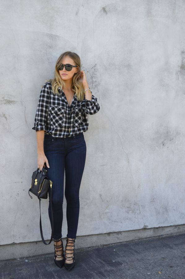 Golden Divine Blog- Paige Denim Raw Hem- Sanctuary Boyfriend Shirt- Fall Style- How To Wear a Flannel Shirt- Los Angeles Fashion Blogger-Ashley Murphy