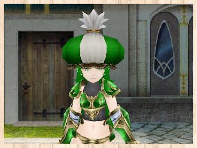 マーケット帽子 緑1