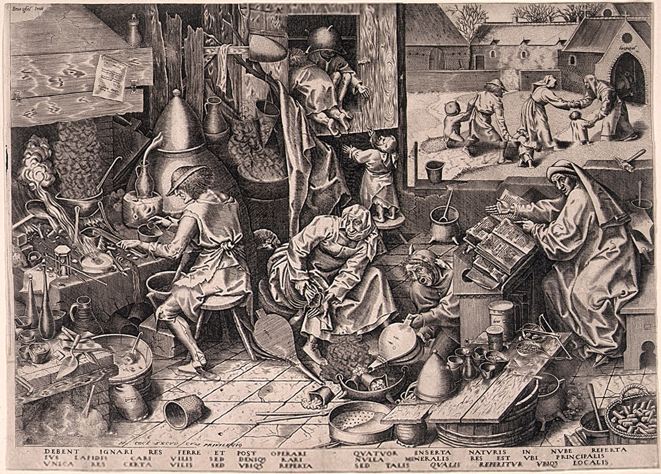 homunculus alchemy on the page pieter bruegel the elder the alchemist c 1558