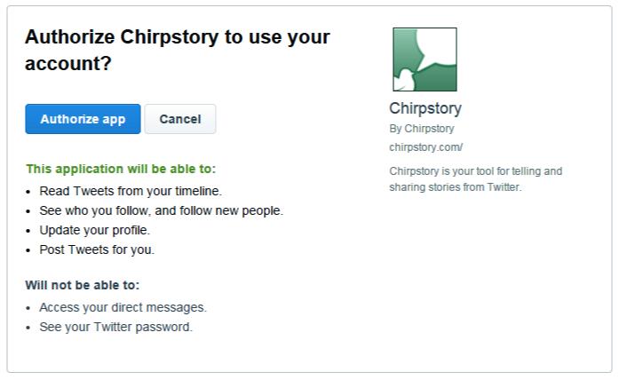 Cara membuat akun Chirpstory