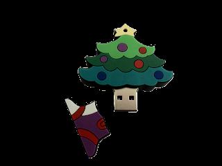 USB in Weihnachtsbaumform