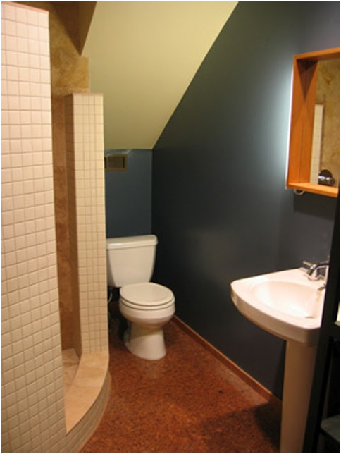 Bathroom under the stairs bathrooms design for Bathroom designs under stairs