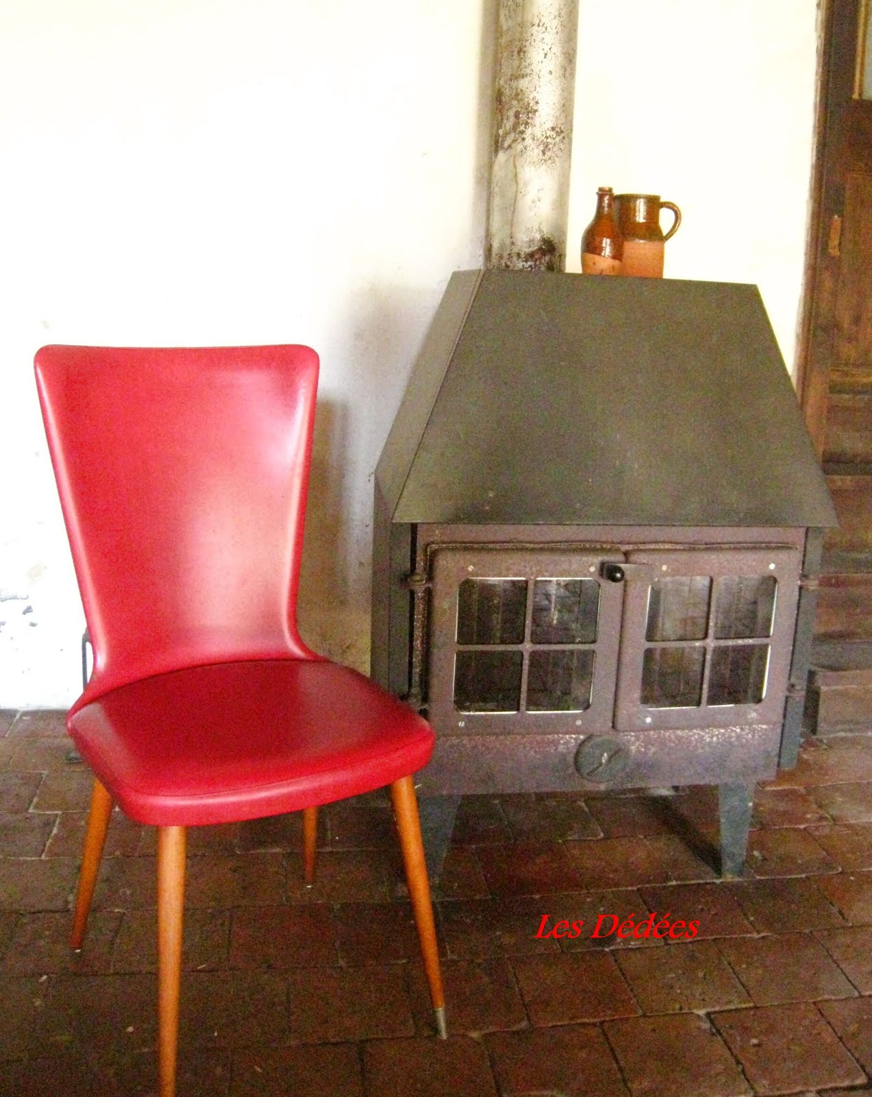 """Les dedees vintage recup creations CHAISE """"CHAPERON ROUGE"""" by"""