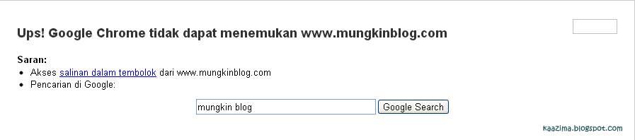 Mungkinblog.com tidak bisa diakses Google Chrome.