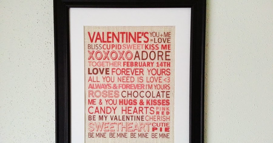 New Orleans Crafts By Design Valentines Day Sayings 11x14