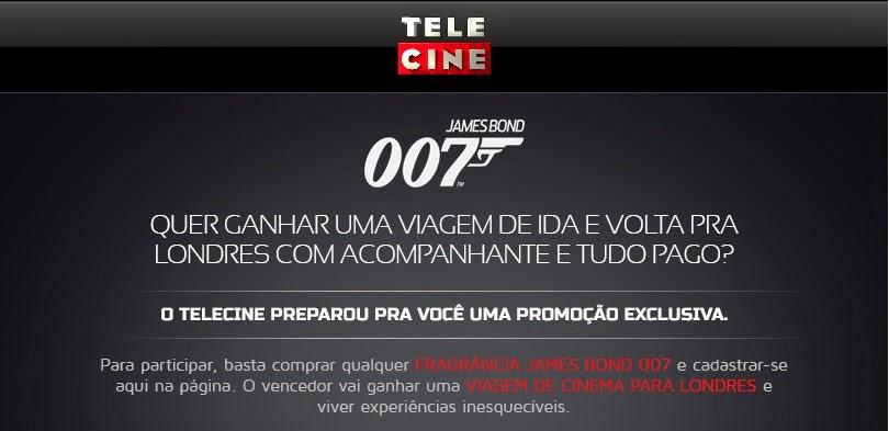 """Promoção Telecine - """"Viagem de Cinema James Bond"""""""