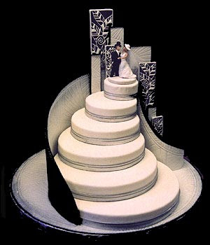 art on wedding cake