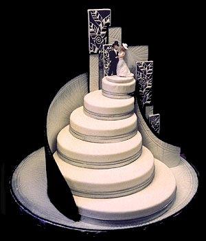 art on wedding cake