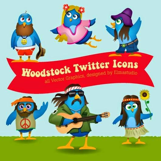 Woodstock Twitter Icons