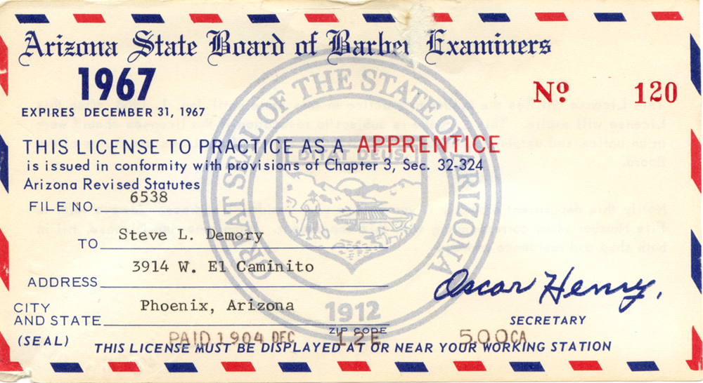 Barber License : Barber License