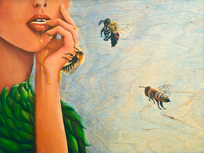 """Nectar"" 2010 Oil painting by Janae Corrado"