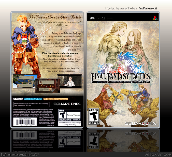 Final Fantasy Tactics The Lion Wars PSP Geee
