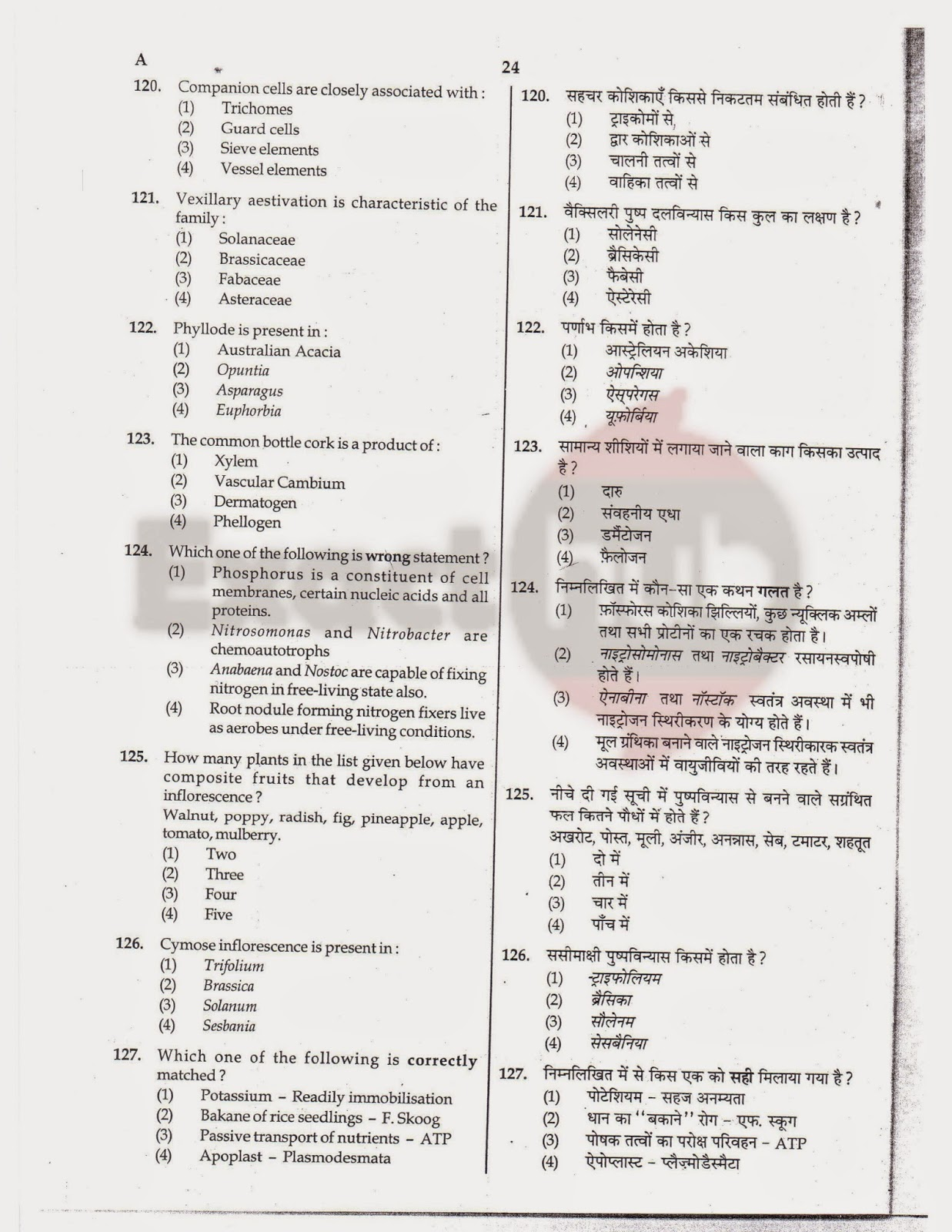 AIPMT 2012 Exam Question Paper Page 24