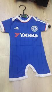gambar detail terbaru baju bola musim depan baju bayi murah jersey bayi murah Jersey Jumper bayi Klub Chelsea home Yokohama terbaru musim 2015/2016 di enkosa sport