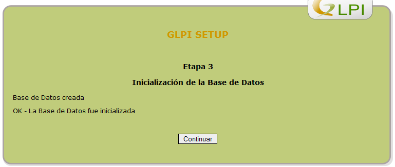 bases de datos creada