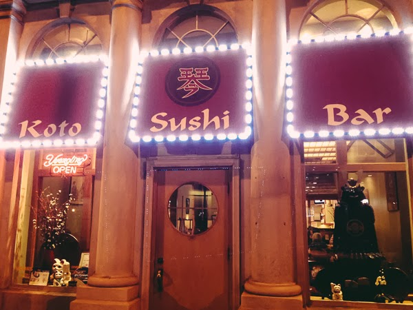 Koto Sushi Bar in Downtown Nashville Tennessee