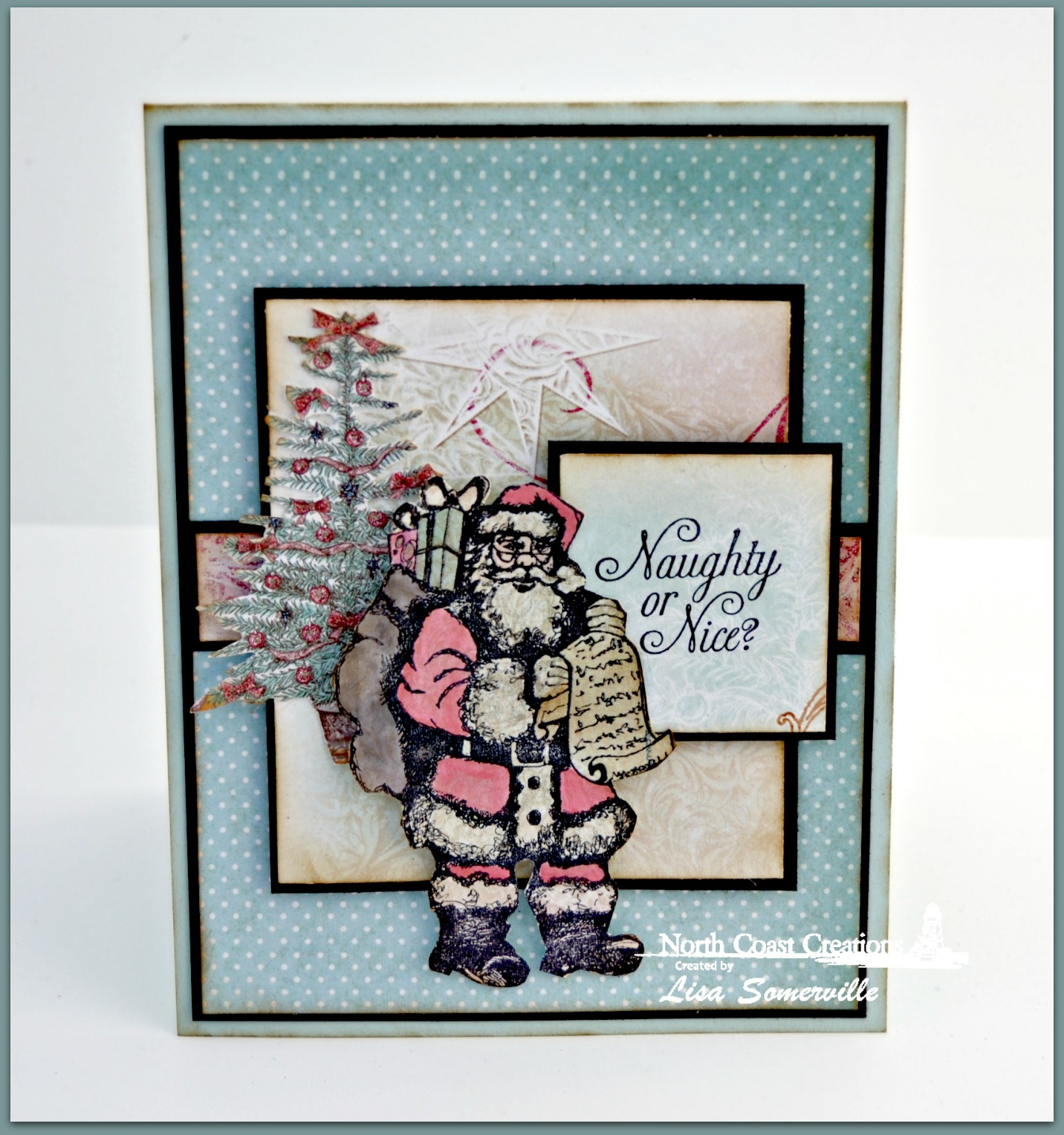 Stamps - North Coast Creations Santa's List, ODBD Christmas Paper Collection 2014