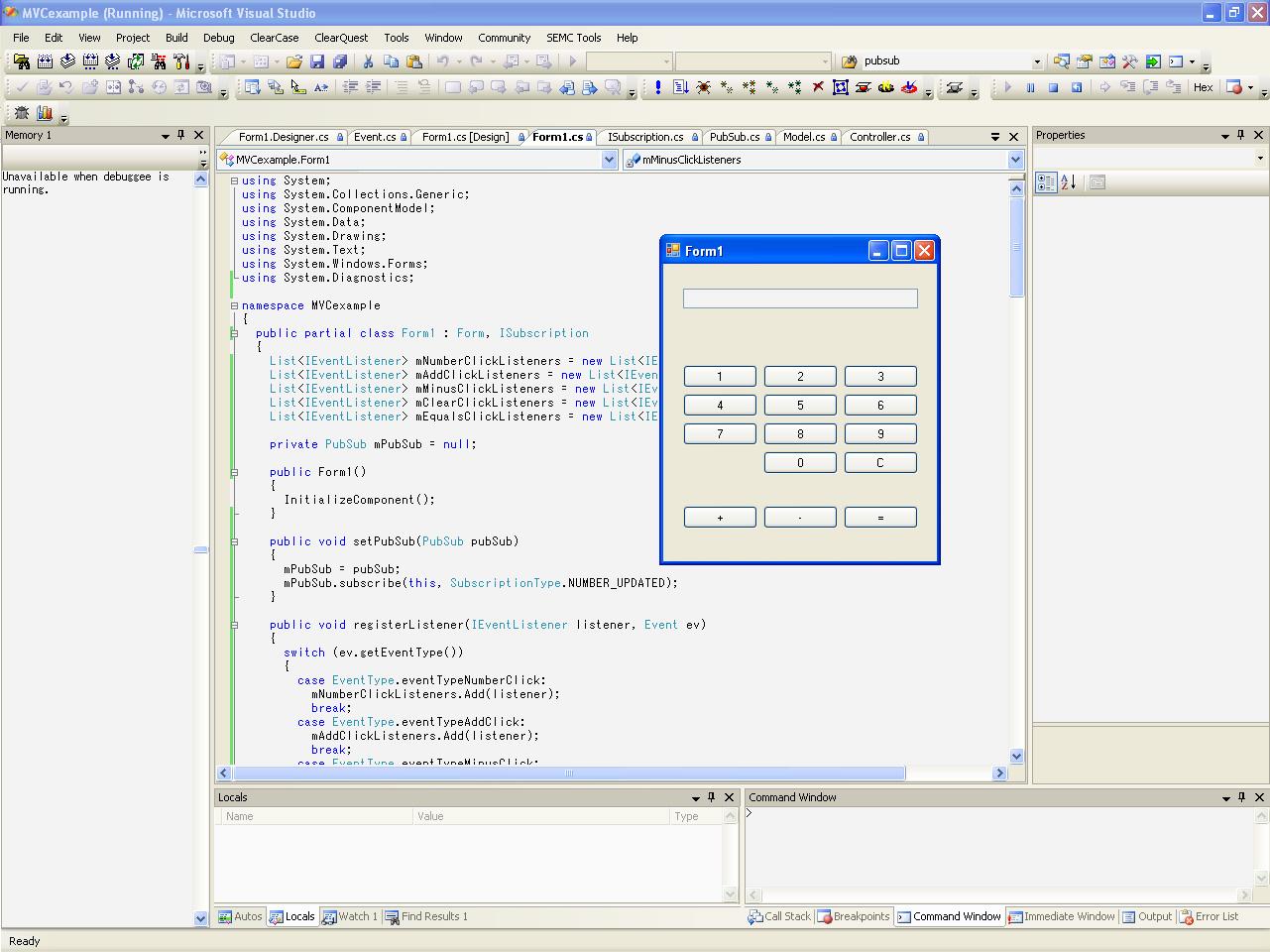 mattiaserlo: tutorial: using the mvc design pattern in visual c#