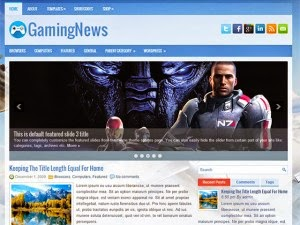 GamingNews - Free Wordpress Theme