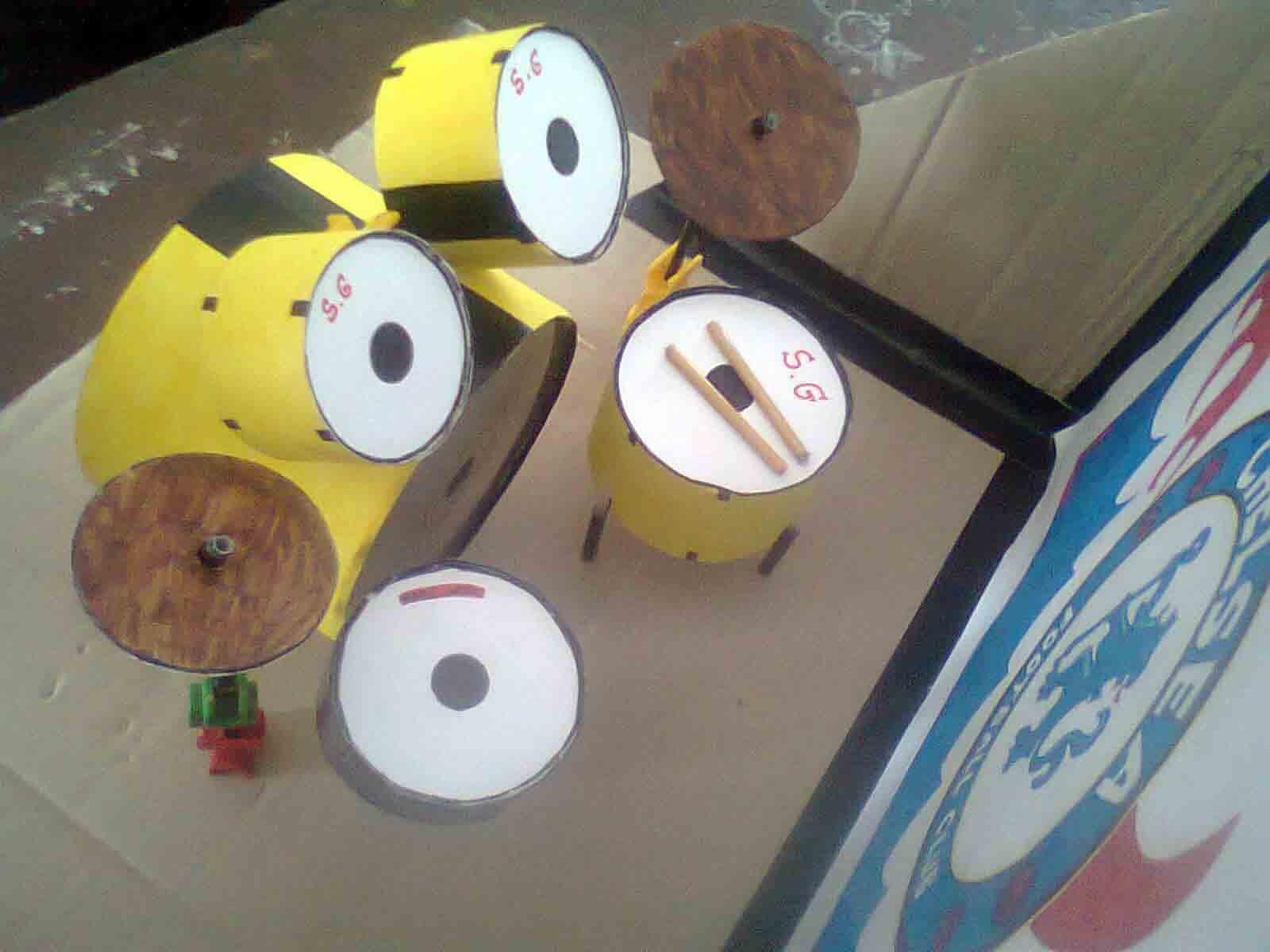 kerajinan tangan dari kaset menjadi drum