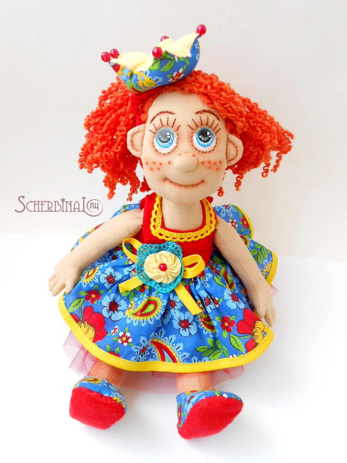 текстильня игровая кукла-карамелька принцесса Варя