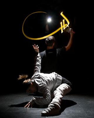 Foto Karya Seni, Kaligrafi Cahaya Yang Indah [ www.BlogApaAja.com ]