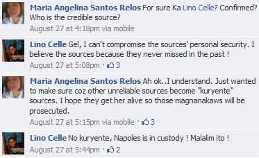 Lino Celle and Gel Santos Relos on Napoles report