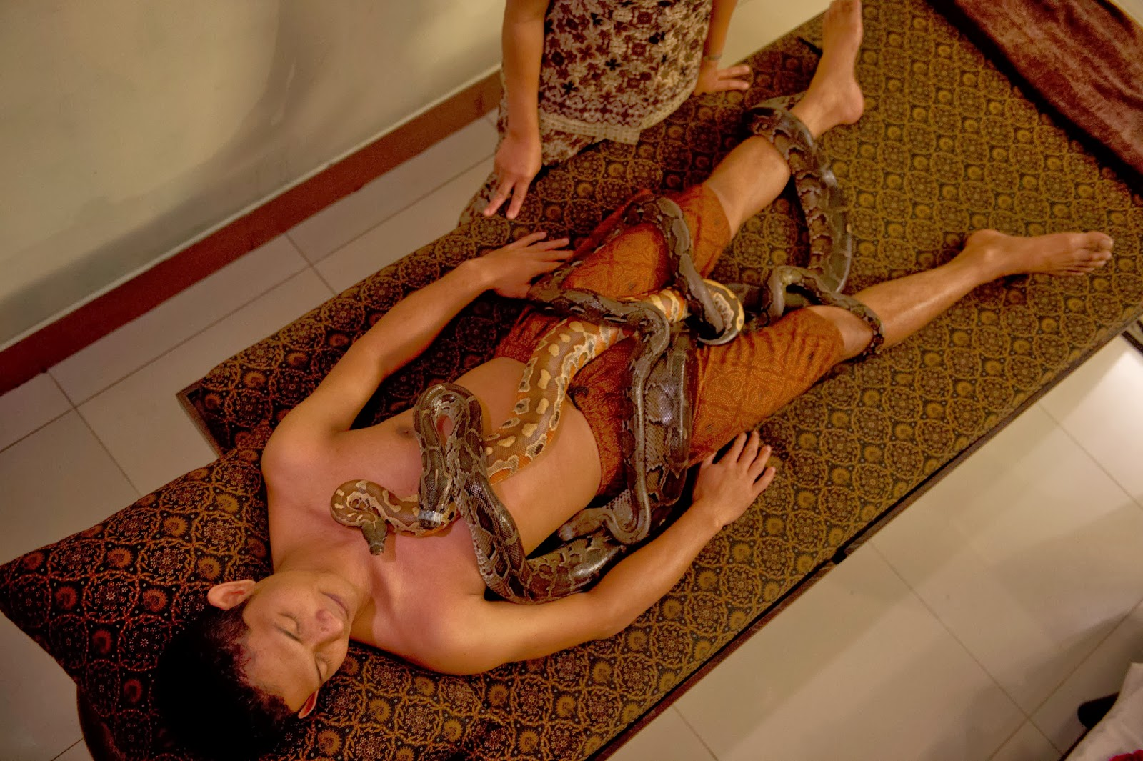 Snake Body Massage - Chill out with a fang-tastic full-body python massage