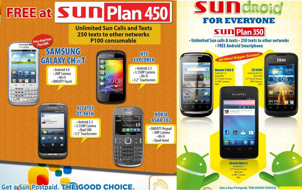 Sun postpaid plan 350 450 600 999 requirements for for Sun mobile plan