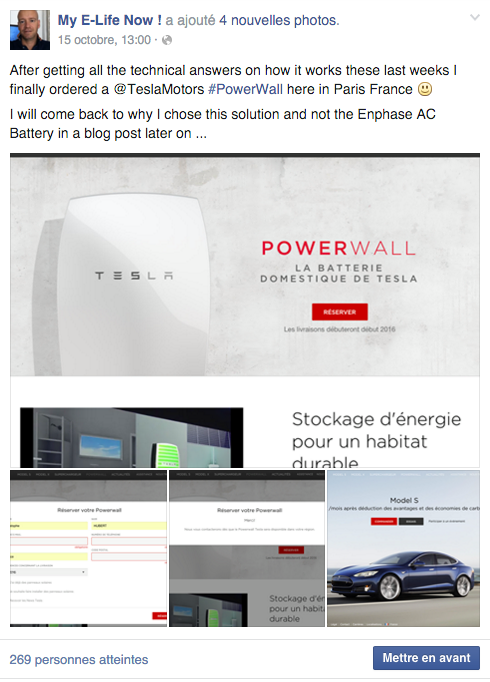 On My Myelifenow Facebook Page I Have Pre Ordered A Tesla Energy Wall So Made Up Mind What Think Will Be The Best Storage System