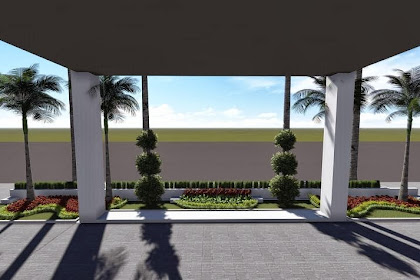 Jasa Gambar Konsep Desain 3d Taman Gedung
